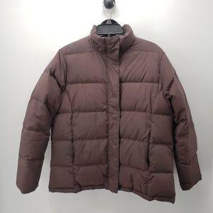 LL Bean Puffer Jacket Brown Size L Reg